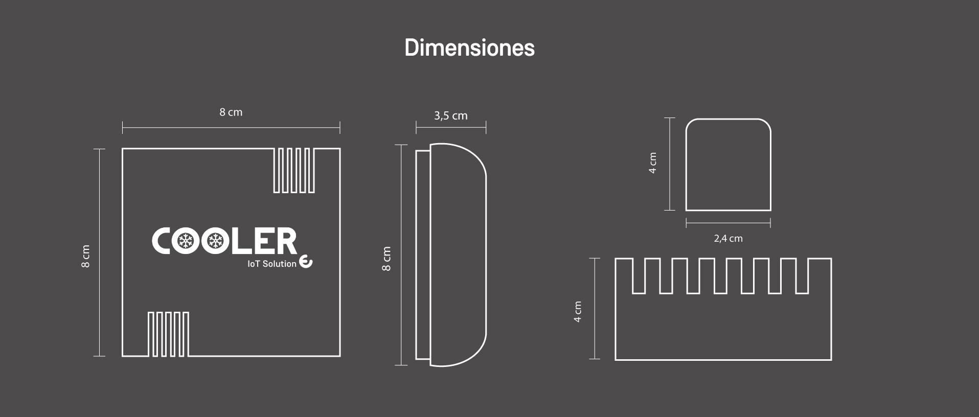 Cooler dimensiones dispositivos