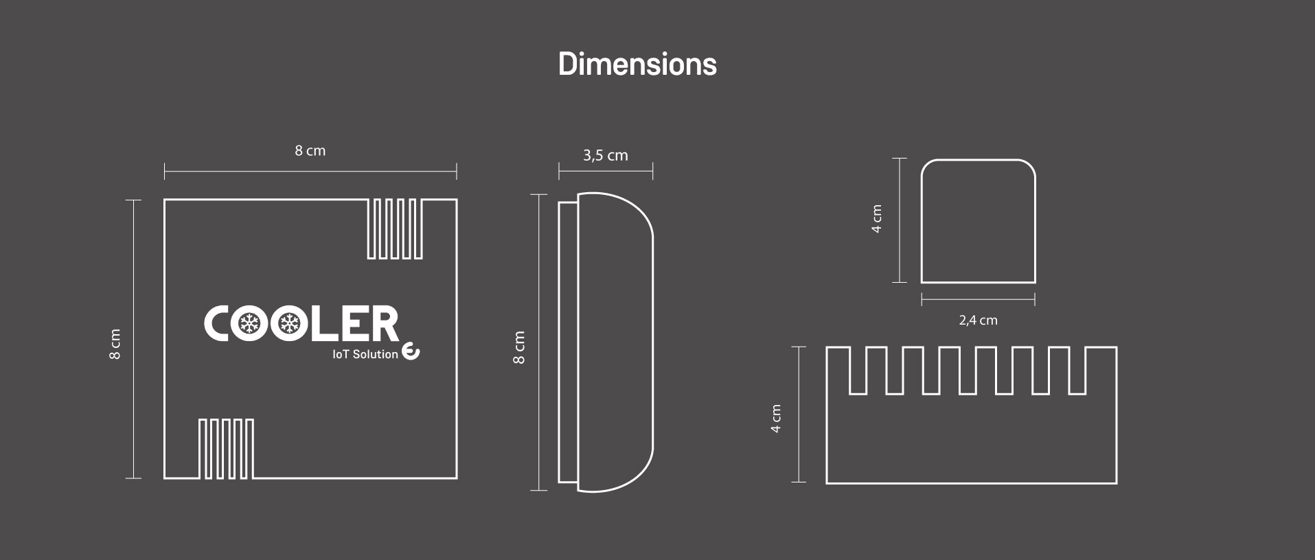 Dimensions Cooler devices